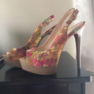 Jessica Simpson Kaine Floral Lace Heel Sz 7